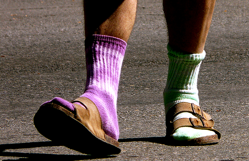 Birkenstock and socks dork