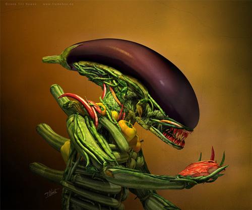 alien salad