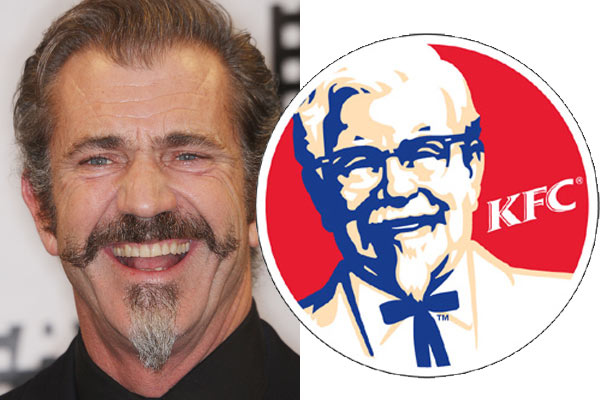 mel gibson and colonel sanders look the same