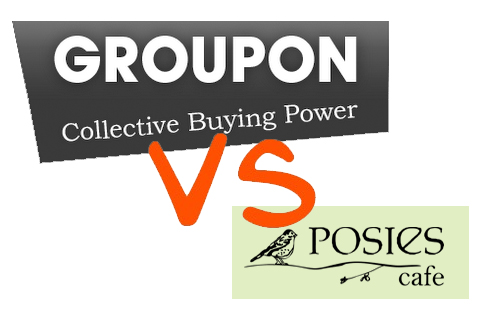 Groupon vs posies cafe