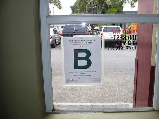 restaurant health code grade b