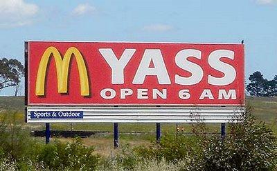 mcdonalds funny sign