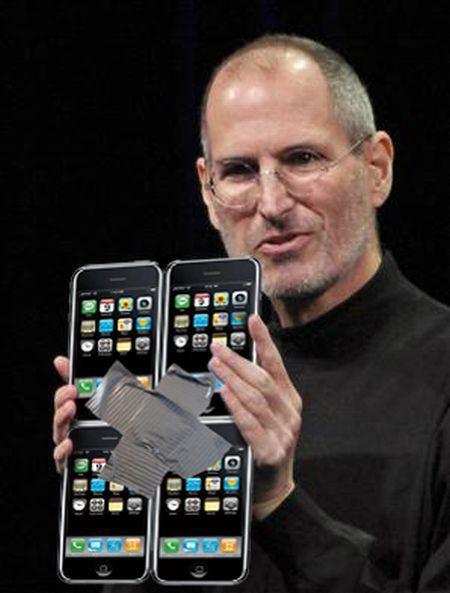 taped iphones to make ipad