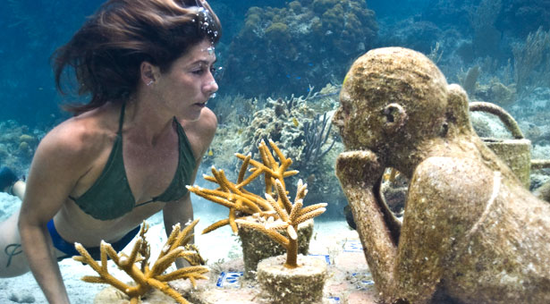 underwater museum in cancun called the silent evolution at national marine park