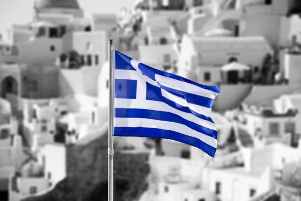 greek flag black and white