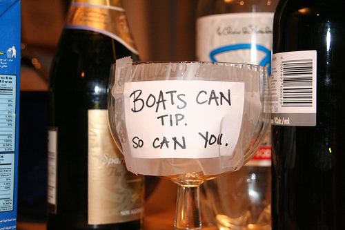boats can tip so can you tipjar